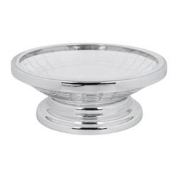 Cut Glass Soap dish, D14.5 x H6cm, clear