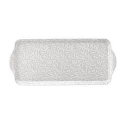Pure Morris - Willow Bough Sandwich tray, 38.5 x 16.5cm, grey/white