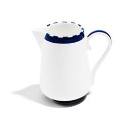 Superstripe Milk jug, 10cl, white/cobalt