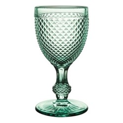Bicos Set of 4 red wine glasses, H15cm - 21cl, mint green
