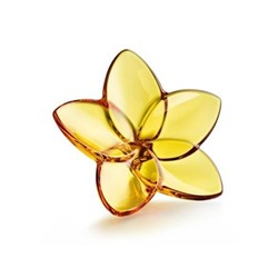 Bloom Flower ornament, W4 x L9cm, amber