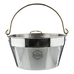 Maslin pan, 8.5 litre, stainless steel