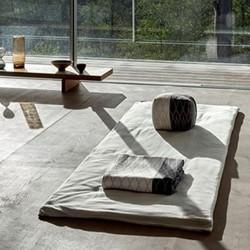Joy Vasiljev Meditation Mattress Natural White, 70cm x 200cm, Natural White