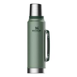 Classic Vacuum bottle, 1 litre, hammertone green