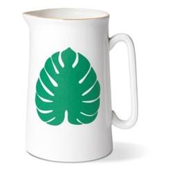 Tropical Leaf Pint jug, H13.5 x Dia9cm