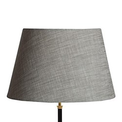 Straight Empire Lampshade, 50cm, dusty mo chambray