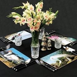 Vintage Birds - Set 1 Set of 4 rectangular table mats, 29.2 x 21.6cm
