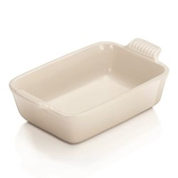 Stoneware Deep rectangular dish, 19cm - 1.08 litre, meringue