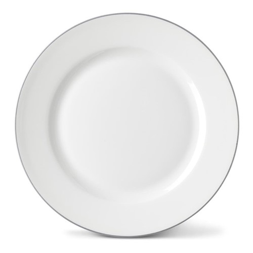 Rainbow Collection Side plate, 20cm, stone grey rim