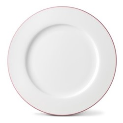 Rainbow Collection Dinner plate, 27cm, rose pink rim