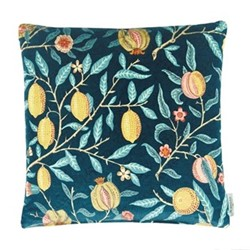 Fruit Velvet Cushion, W50 x L50cm, blue