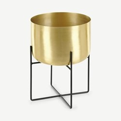 Salix Large planter, H33 x W25 x D26cm, Brass