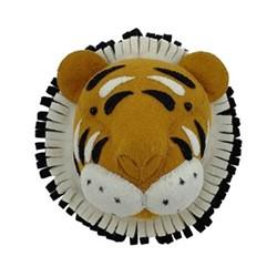 Mini wall mounted tiger head, H25 x W25 x D15cm