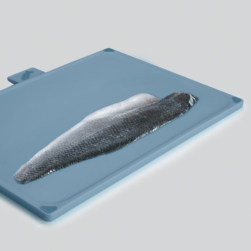 Editions Set of 4 large index chopping boards, Sky blue