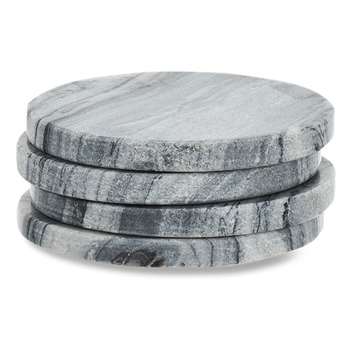 Esa Set of 4 marble coasters, Dia11cm, grey