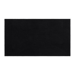 Cotton Bath mat, 50 x 90cm, black