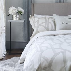 Meso Super king size duvet cover, L220 x W260cm, oyster