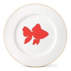 Goldfish Dinner plate, Dia26cm, gold rim