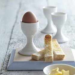 Ceramics Pair of egg cups, 9cm, white