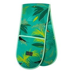 Toucan - Repeat Double oven glove, 18 x 88cm, green