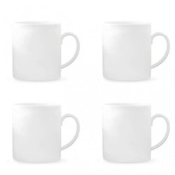 Vera Wang Perfect White Set of 4 mugs, H10.3cm - 44cl, white