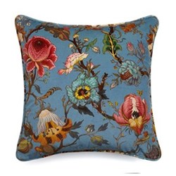 Artemis Large velvet cushion, 60 x 60cm, blue