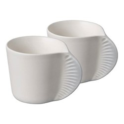 Morphose Pair of mugs, H6cm, pearl grey