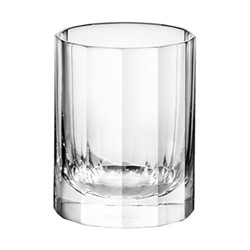 Fluted Pair of shot glasses, H6.5 x D5cm - 75ml, clear