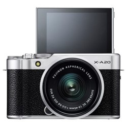 X-A20 Mirrorless camera with 15-45 mm f/3.5-5.6, 16.3MP, black & silver