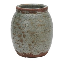Broseley Large pot, H26 x Dia23.5cm, moss