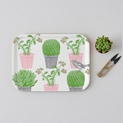Cactus & Bird Small tray, 27 x 20cm