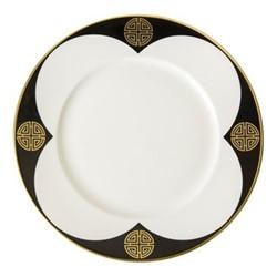 Satori Black Plate, 21.5cm, black/white/gold