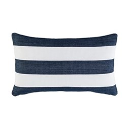Fresh American - Catamaran Polypropylene indoor/outdoor cushion, L61 x W38cm, navy/white