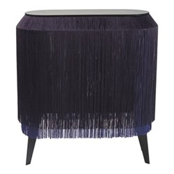 Baby Alpaga Side table, H72 x L66 x Dep27cm, electric blue
