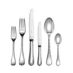 Rubans 36 piece cutlery set with chest, silver plate