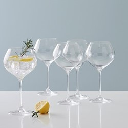 Beaumont Set of 6 gin glasses, 760ml, clear crystal