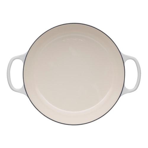 Signature Cast Iron Shallow casserole, 30cm - 3.2 litre, meringue