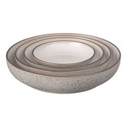 Studio Grey Set of 4 nesting bowls, granite