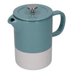 Barcelona Cafetiere, 8 cup - 850ml, retro blue