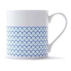Ripple Mug, H9 x D8.5cm, blue/turquoise