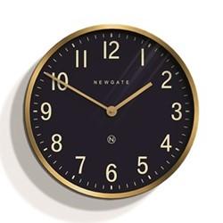 Mr Edwards Wall Clock, 45 x 45cm, radial brass