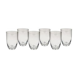 Barnes Set of 6 tall water glasses, H12.5 x W8.5cm, clear