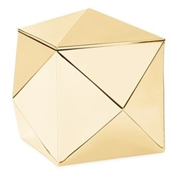 Raina Box, 16 x 16 x 15cm, gold