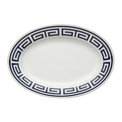 Labirinto Oval platter, 34cm, zaffiro