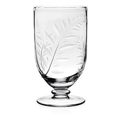 Country - Jasmine Footed vase, 18cm, clear