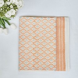 Eliza Peach Tablecloth Large, White