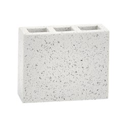 Quartz Toothbrush holder, L12.5 x W4.5 x H10cm, terrazzo