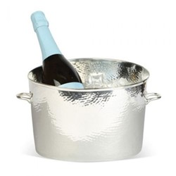 Palace Champagne bath - small, 17.1 x 21.6 x 21.5cm, silver plate, stainless steel and brass