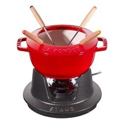 Mini fondue set, 10cm, cherry