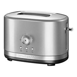 Manual Control 2 slot toaster, contour silver